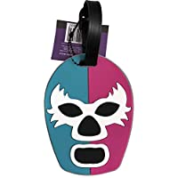 By Mexico Identificador de Maletas modelo Máscara de Luchador Turquesa-Rosa