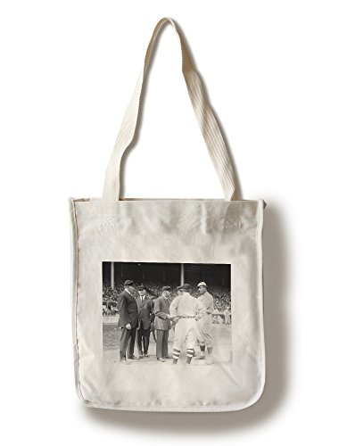 Umps and Managers, Giants and Red Sox World Series, Baseball - Vintage Photo (100% Cotton Tote Bag - Reusable)