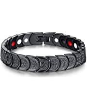 Medical energy bracelet with germanium stone to get rid of electrical charges in the body and balance for men