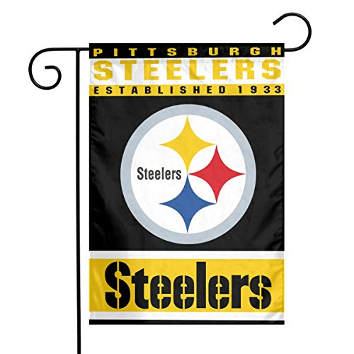 Jeffredy American Football Team Pittsburgh Steelers 100% Polyester Garden Flag 12X18 Inches