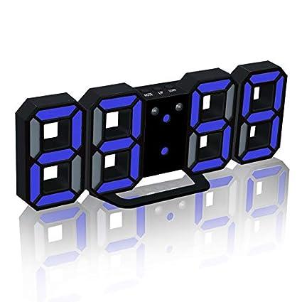 HIGGER LED Despertador Digital Actualización de la Versión 8888 Reloj de Pared Puede Ajustar el Brillo