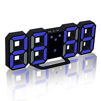 LED Despertador Digital Actualización de la Versión 8888 Reloj de Pared Puede Ajustar el Brillo del LED Automáticamente: Amazon.es: Hogar