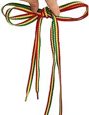 Rasta Shoelaces Reggae Bob Maley Stripes Punk Shoe Laces weed Shoelaces Skater Boho Rad Hipster Hobo Shoestrin