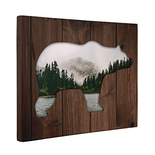 Bear Canvas Wall Art - Forest and A Bear Canvas Wall Art