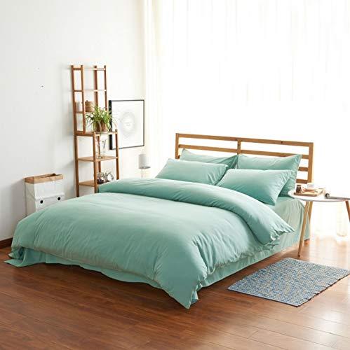 CUBCBIIS ベッドの寝具セットホームインテリアに適した4ピースコットンハイグレード高密度ブラシ付きベッドリネンピローケース (Color : オレンジ, サイズ : 150-180CM) B07P2FVXWY