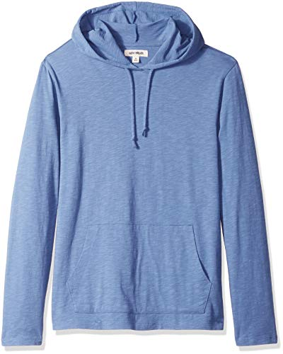 Hoodie Lightweight - Goodthreads Men's Lightweight Slub T-Shirt Hoodie, Moonlight Blue/Blue, Medium