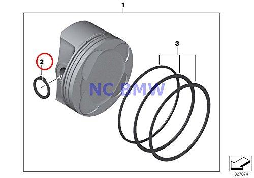 Bmw Piston Ring - 4 X BMW Genuine Motorcycle Piston Single Components Lock Ring A22X1.75 R80G/S R80ST R80 R100R R100R Mystik R100/7T R100/T R100CS R100RS R100RT R100S R80 R80RT R100RS R100RT R1100GS R1100R R850 R1100RS