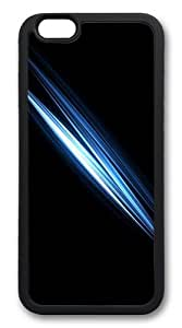 Blue abstract TPU Case Cover for iphone 6 plus 5.5 inch Black