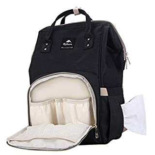 Qshare Diaper Bag Backpack - Multi-Function Waterproof Maternity Nappy Bags for Travel with Baby - Large Capacity, Durable and Stylish