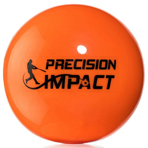 Precision Impact Baseball-Size Slugs: Heavy Weighted Practice Balls for Baseball; Hitting Training Aid (6-Pack) by Precision Impact