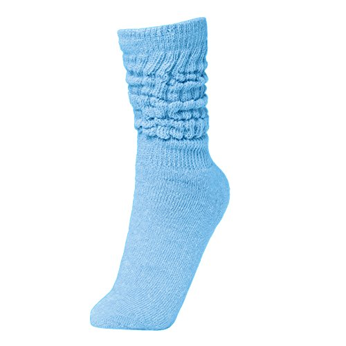 BRUBAKER Womens Or Mens Fitness Workout Slouch Socks Gym Light Blue EU39-42 / -
