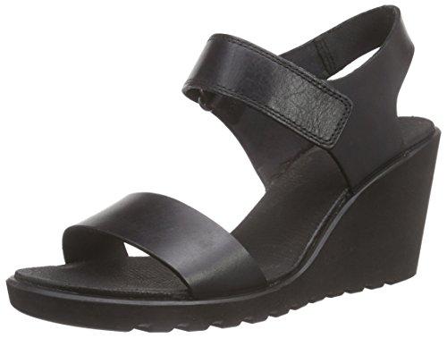ECCO Freja Wedge Sandal - Sandalias Mujer Negro (BLACK2001)