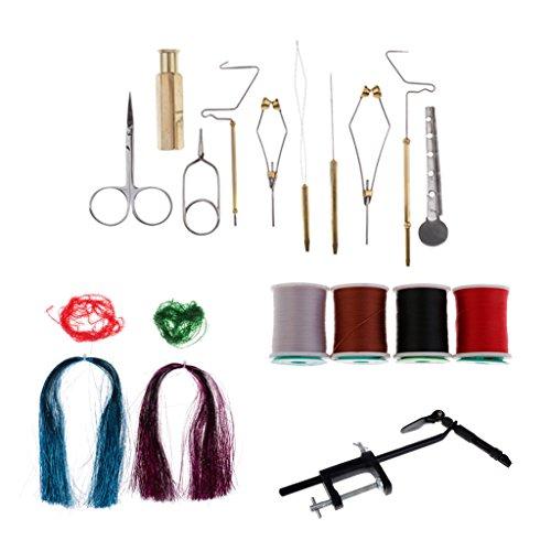 - SM SunniMix Fly Tying Tool Kit with Fly Tying Vise, Bobbin Holder, Whip Finisher, Hackle Pliers, Bobbin Threader, Fly Fishing Tying Tools Set