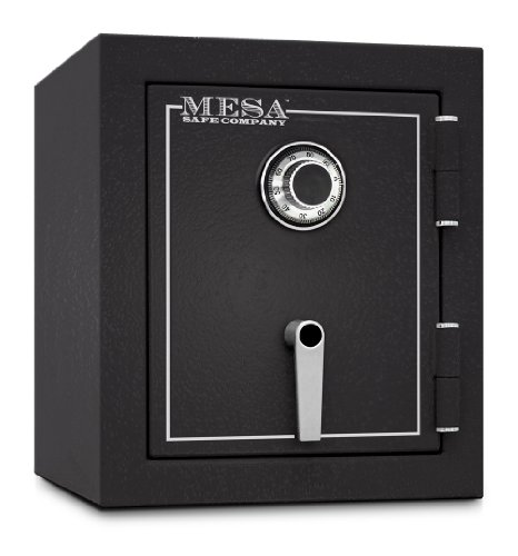 Mesa Safe MBF1512C All Steel Burglary and Fire Safe with Combination Lock, 1.7-Cubic Feet, Hammered Grey by Mesa Safe (Image #1)