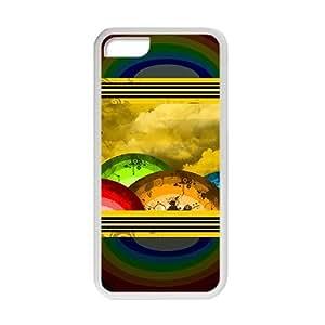 Cartoon Rainbow White Phone Case for iPhone 6 4.7