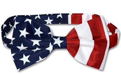 American Flag Men's Bow Tie USA Patriotic BOWTIE