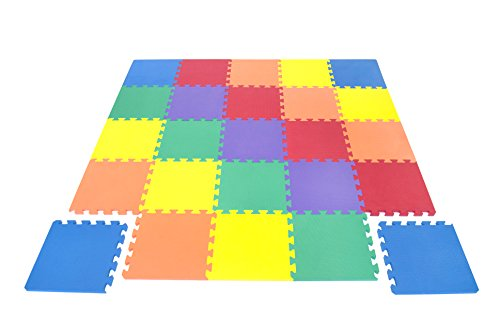 Wonder Mat Non-Toxic 25 Pieces Extra Thick Play Mat for Babies