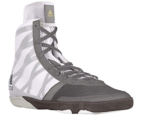 adidas Pretereo III Men's Wrestling Shoes, Grey/Gold/White, Size 12.5
