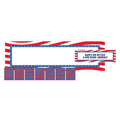 Amscan Patriotic Personalized Giant Party Sign Banner Decoration, 65