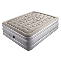 "Sable Mattress, Inflatable Air Bed with Internal Pump Eco-Friendly PVC and Top Flocking with Storage Bag, Height 19"", Full"
