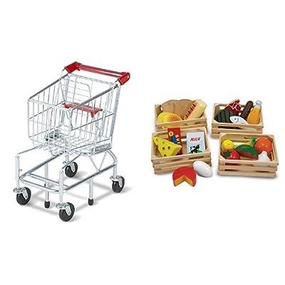 Melissa & Doug Shopping Cart and Melissa & Doug Food Groups Bundle: Toys & Games