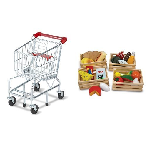 Melissa & Doug Shopping Cart and Melissa & Doug Food Groups