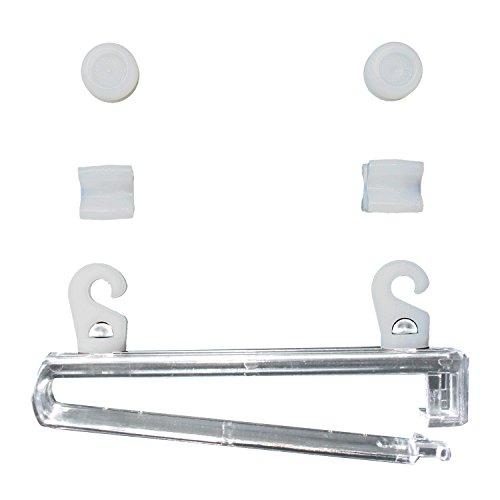 Flairdeco 16071009-0800 Schlaufengleiter mit X-Gleiter und Gardinenrollen, Kunststoff, Packungsinhalt 8 Stück