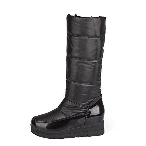 Stivali Da Neve Con Tacco Spesso Donna Enmayer Caldi E Spessi Stivali Di Cotone Più Il Nero