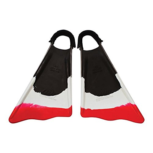 Ally Clark Little 12.5+ Swim Fins & Tethers, X-Large, Black/White/Red