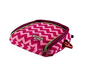 BubbleBum Booster Car Seat, Pink Chevron