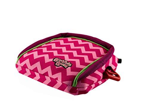 BubbleBum Travel Booster Car Seat, Pink Chevron