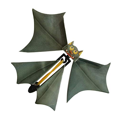 Magic Flying Bat, Anytec 3PC Wind up Bat Flutter Card Prank Flying Paper Bats for Funny Halloween Card Gift Toys -