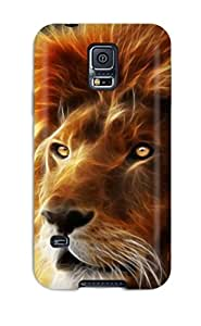 Best Top Quality Rugged Beautiful Lion Case Cover For Galaxy S5
