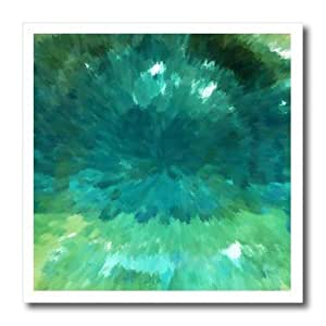 ht_17748_1 Florene Contemporary Abstract - Ocean Breeze - Iron on Heat Transfers - 8x8 Iron on Heat Transfer for White Material