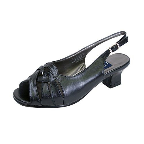 Dress Black for Sandals FIC Wide Women Width PEERAGE Size Guide Slingback Casual Measurement Helen or Affairs ww8fa