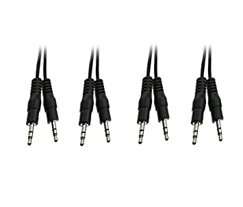 CNE22117 C/&E 6-Feet 2 RCA Male to Female Stereo Audio Extension Cable 5-Pack