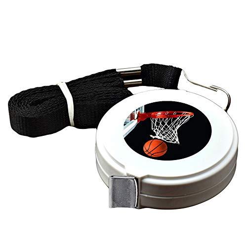1.5 Meter White tape measure Basketball Hoop Tape Measure for Body customized image tape measure sewing Automatic retractable tape measure clothing measuring Tape Measure fractions Self Lock tape (Ku Basketball Hoop)