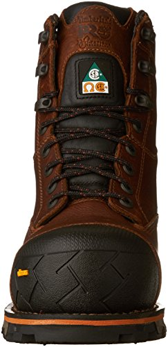 Timberland Pro Mens Csa 8 In Boondock Ct Wp Shoe Marrone Scuro