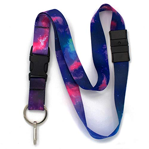 (Buttonsmith Nebula Breakaway Lanyard - with Buckle and Flat Ring - Made in The USA)