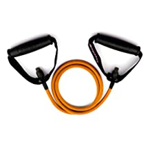 *** LIFETIME REPLACEMENT WARRANTY *** Orange Ripcords Exercise Band - Light Tension (8-14 lbs) - Resistance Band