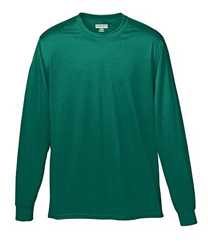 Augusta Sportswear Wicking Long Sleeve T-Shirt 3XL Dark Green
