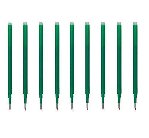 Pilot Gel Ink Refills for FriXion Erasable Gel Ink Pen, Extra Fine Point 0.5mm, Green Ink, Pack of 9