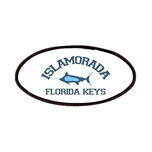 (CafePress - Islamorada - Fishing Design. Patches - Patch, 4x2in Printed Novelty Applique Patch)