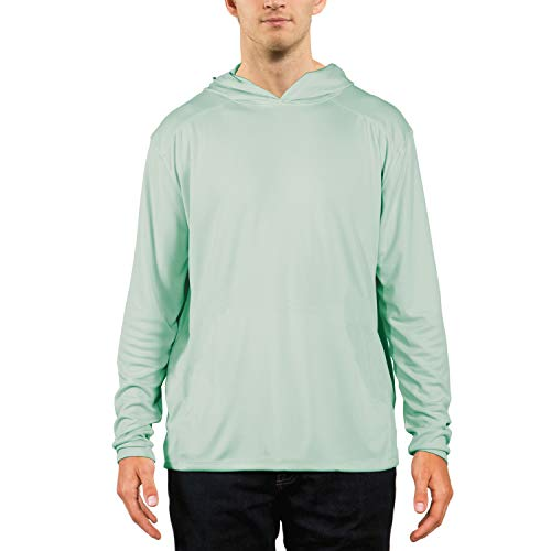 Vapor Apparel Men's UPF 50+ UV Sun Protection Performance Long Sleeve Hoody Large Seagrass (Hoody Performance)