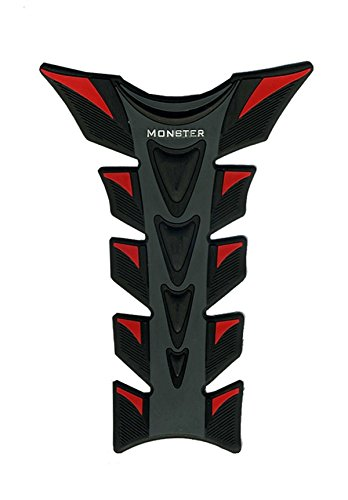 Motorcycle Fiber Gas Tank Protector Racing Black & Red Pad Sticker 3D Rubber Decal Fit For Yamaha YZF R1 2004 2005 2006 2007 2008 -  GAO, GAO301-ST080-005