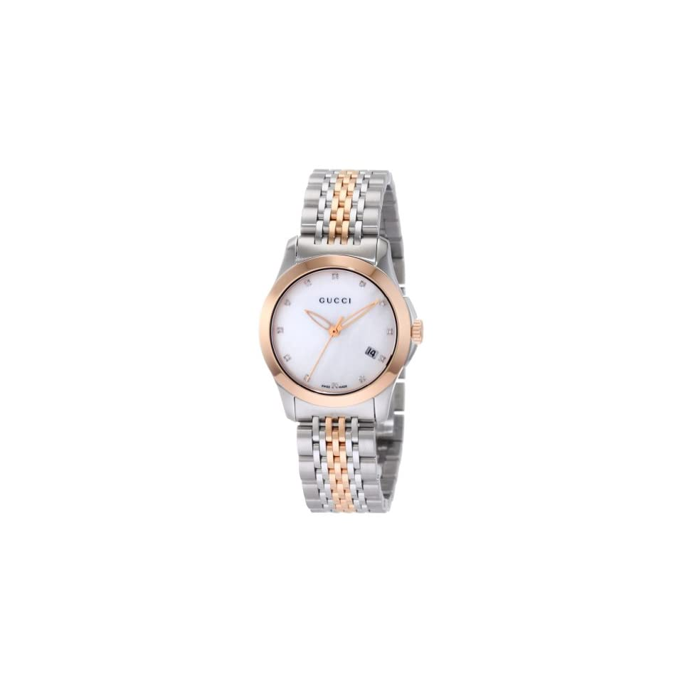 15dc8cbe654 Gucci Womens YA126514 Gucci timeless Steel and Pink PVD White Dial ...