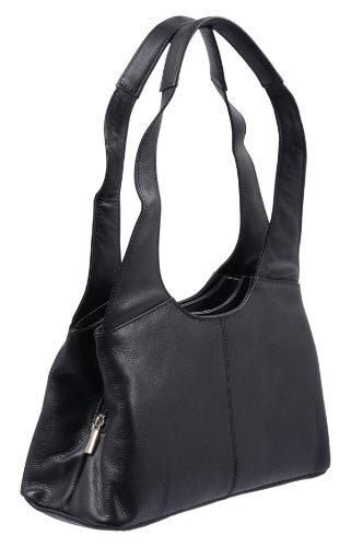 Bolso de mujer LEMONDO, de cuero, 31x18x11,5cm Negro