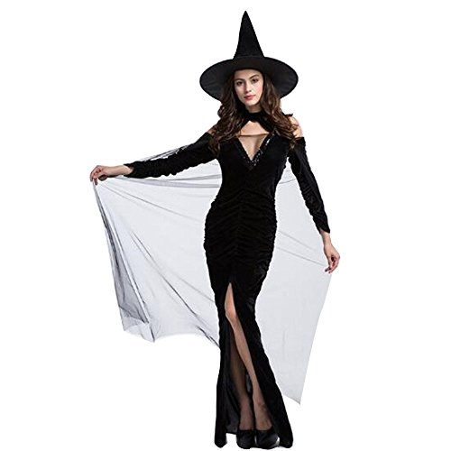 Fat Lady Devil Costume (Women's Witch Costume Halloween Costume Deluxe Kit)