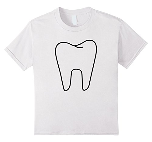 Kids Funny Tooth Fairy White Costume T shirt 6 White -
