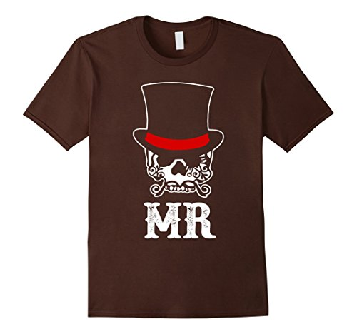 Mens Halloween Couple Mr T-shirt Matching Couple Mr And Mrs Small Brown